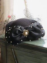 Load image into Gallery viewer, Black 1950S  Pillbox Hat With Tulle