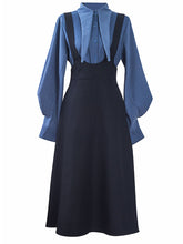 Load image into Gallery viewer, With Bow Collar Beauxbatons Same Style Vintage Fall Shirt Set Dress