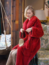 Load image into Gallery viewer, Soft Faux Fur Coat Women V Neck Long Sleeve Maxi Winter Coat