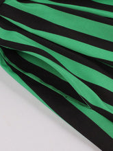 Load image into Gallery viewer, Green and Black Stripe With Pockets 50S Halloween Dress