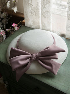 Sweet Bow Satin Vintage Audrey Hepburn Same Style Embroidered 1950S Hat