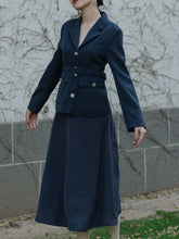 Load image into Gallery viewer, 1950S Fall Long Sleeve Vintage Blazer Dress Set