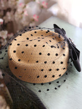 Load image into Gallery viewer, Khaki 1950S Pillbox Hat Mrs Masiel Same Style Hat With Tulle