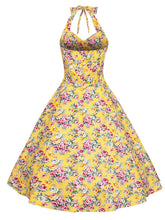 Load image into Gallery viewer, Sweet Rose Cotton 50s Swing Dress