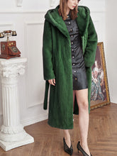 Load image into Gallery viewer, Soft Faux Fur Coat Women Long Sleeve Maxi Winter Coat With Hood