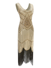 Load image into Gallery viewer, 2 Colors 1920s Sequined Flapper Gatsby Dress