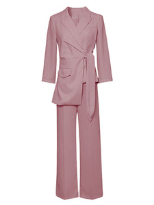 Rose Long Sleeve 1950S Vintage Pant Suit