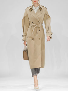 Ruffles Sleeve Long Chelsea Heritage Trench Coat