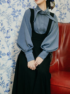 With Bow Collar Beauxbatons Same Style Vintage Fall Shirt Set Dress