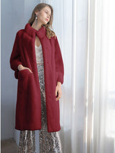 Load image into Gallery viewer, Soft Faux Fur Coat Women Long Sleeve Maxi Winter Coat With Pockets