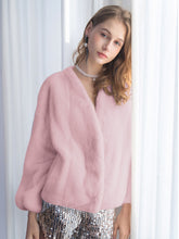 Load image into Gallery viewer, Soft Faux Fur Coat Women Long Sleeve Short Winter Coat