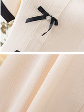 Load image into Gallery viewer, Vinatge Apricot Puff Sleeve Swing Dress