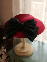 Load image into Gallery viewer, Big Sweet Bow Satin Vintage Audrey Hepburn Same Style 1950S Hat