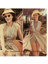 Load image into Gallery viewer, The Marvelous Mrs.Maisel Costume Dress Stripe Vintage Dress Set With Sunglasses