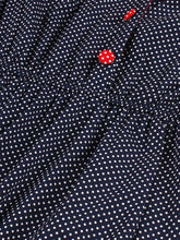 Load image into Gallery viewer, Navy Ploka Dot  Puff Sleeve Vintage Dress