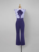 Load image into Gallery viewer, Purple Ruffles Sleeveless 1950S Vintage Pant Set