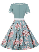 Load image into Gallery viewer, Sweet Heart Collar 1950S Vintage Floral Swing Dress