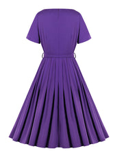 Load image into Gallery viewer, The Marvelous Mrs.Maisel Season 2 Same Style Purple Vintage Dress