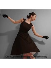 Load image into Gallery viewer, The Marvelous Mrs.Maisel Same Style Little Black Dress Set With Necklace And GLoves