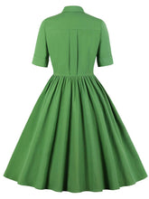 Load image into Gallery viewer, Solid Color 1950S Vintage Swing Dress