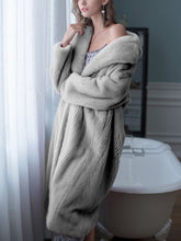 Load image into Gallery viewer, Soft Faux Fur Coat Women Long Sleeve Maxi Winter Coat