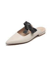 Load image into Gallery viewer, Women's Clogs & Mules Flat Heel Leather Shoes