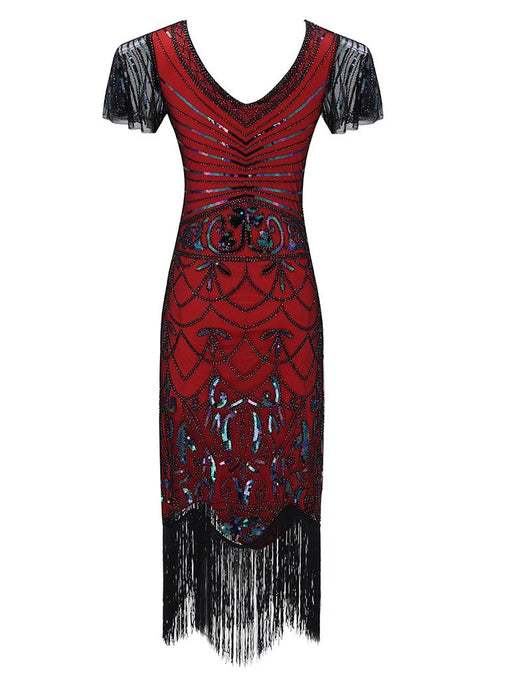1920S Fringed Flapper Gatsby Dress