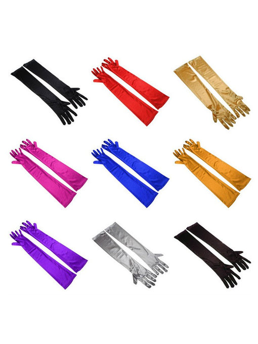 1920S Flapper Costume Gloves With All Colors