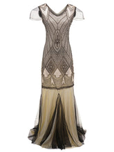 Load image into Gallery viewer, 5 Color 1920S Sequined Fringe Flapper Dress