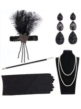 Load image into Gallery viewer, 1920S Flapper Costume 5Pcs Accessory Set