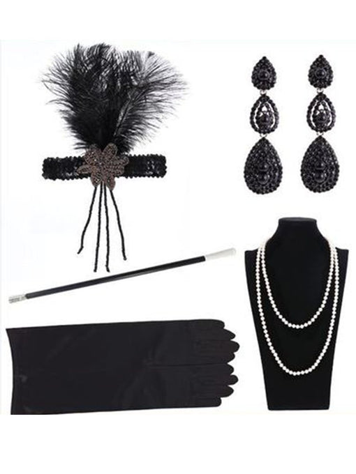 1920S Flapper Costume 5Pcs Accessory Set