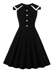 Black Hepburn's Sailor Vintage Dress