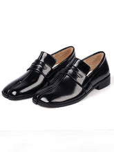 Load image into Gallery viewer, Women's Loafers Round Toe Leather Vintage Shoes