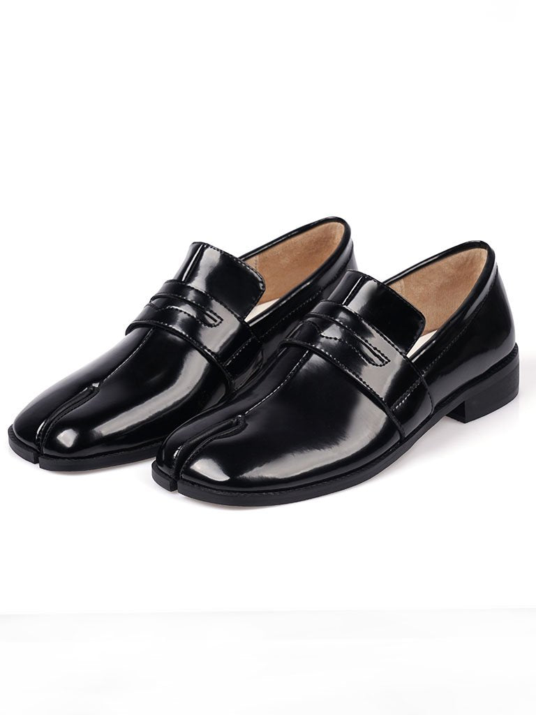 Women's Loafers Round Toe Leather Vintage Shoes