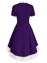 Load image into Gallery viewer, Christmas Bow Collar 1950S Swing Dress