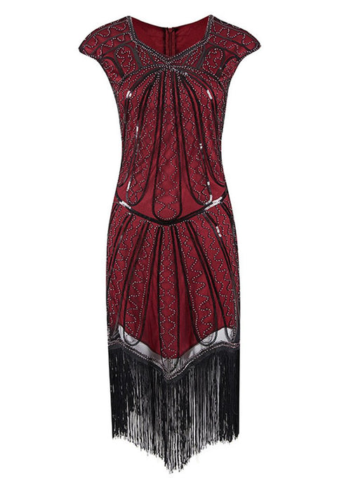 1920S Sequin Fringed Gatsby Dress