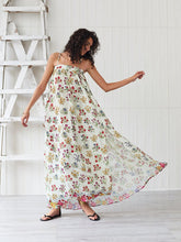 Load image into Gallery viewer, Women's Boho Dress Spaghetti Strap Split Floral Printed Maxi Dress