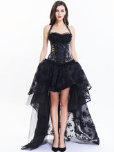 Load image into Gallery viewer, Halloween Costume Gothic Women Lace Vintage Corset Top And High Low Skirt