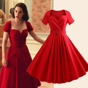 The Marvelous Mrs.Maisel Costume Dress Cotton Vintage Dress