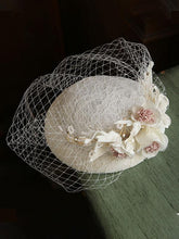 Load image into Gallery viewer, Lace Flover Tulle  Vintage Lace 1950S Hat