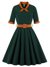 Load image into Gallery viewer, Dark Green Swing Vintage 1950S Dress