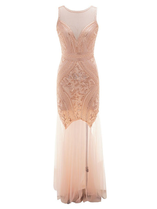 Flapper 1920S Fringed Gatsby Maxi Dress