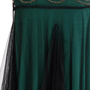 Green 1920s V Neck Sequined Long Flapper Dress