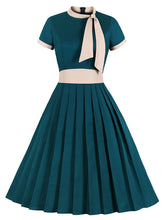 Load image into Gallery viewer, Bow Collar 1950S Cotton Dress With Pockets