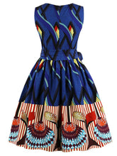 Load image into Gallery viewer, 50s 60s Cotton Printed Vintage Dress