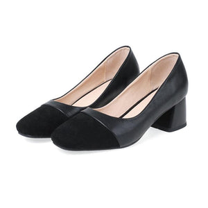 Women's Heel Pointed Toe Chunky Heel PU Leather