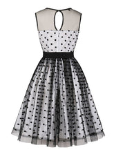 Load image into Gallery viewer, Flock Dots 1950S Tulle Dress