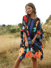 Load image into Gallery viewer, Boho Dress Robe Style Floral Printed Beach Dress For Women