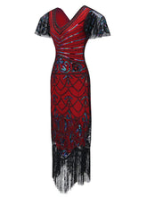 Load image into Gallery viewer, 1920S Fringed Flapper Gatsby Dress