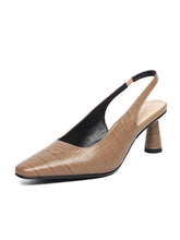 Load image into Gallery viewer, Women's Heels High Heel Pointed Toe Cowhide Leather Shoes